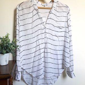 Striped Over-Sized Blouse
